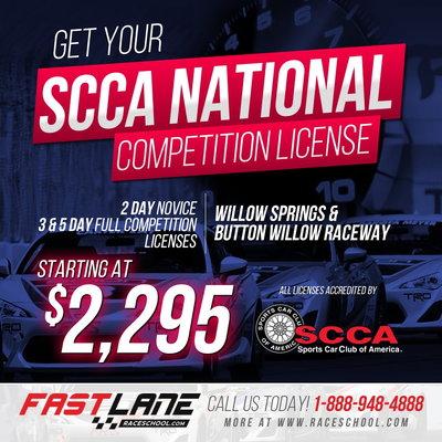 SCCA, NASA, VARA & FIA Competition Licensing!