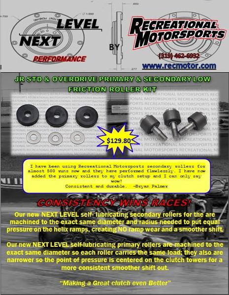 Performance Primary Roller Kit for JR Shockwave Clutch  for Sale $66