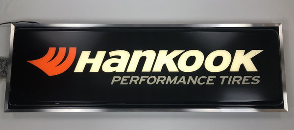 New Lighted Dealer Sign HANKOOK 12 X 37 Single Sided Hanging