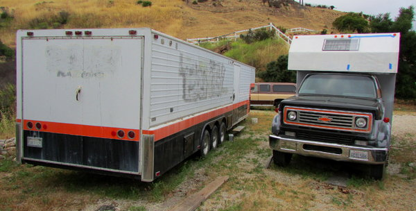 '81 Chevy C60 Truck and 42' Chaparral Racing Trailer  for Sale $15,000