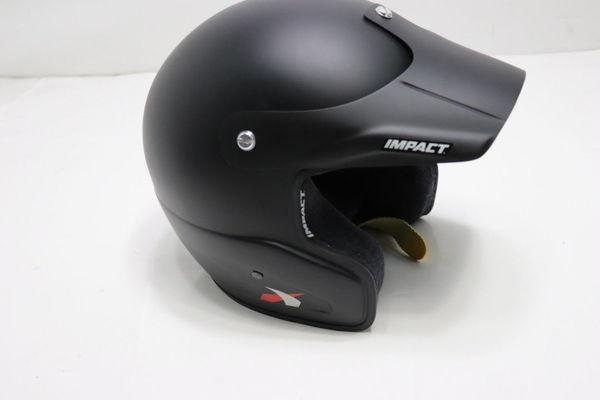 IMPACT Helmet Rally X Gloss Black SA2010 Open Face Visor