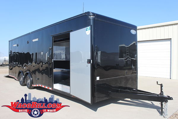 28' Black-Out X-Height 12K Race Trailer Wacobill.com