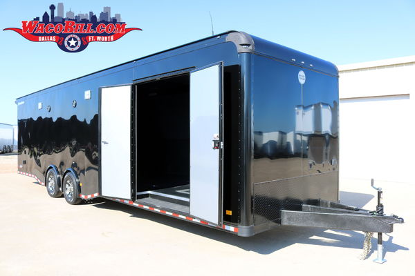 32' Black-Out Motortrac Pro-Racing Trailer Wacobill.com