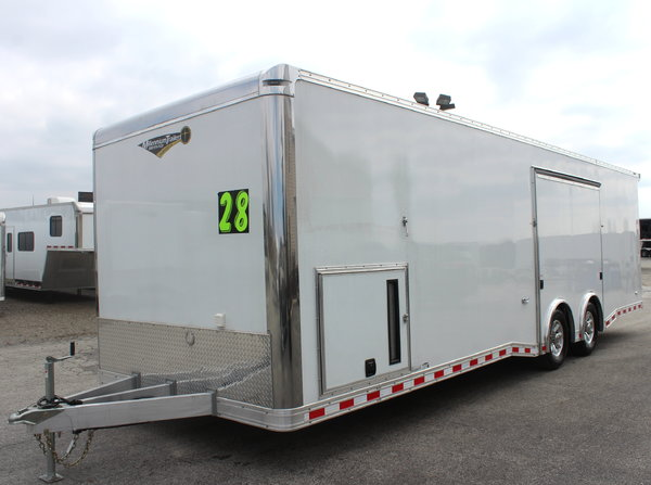 Wide car? 28' Loaded Out Aluminum Race Car Trailer