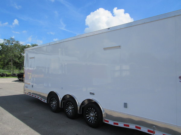 2019 Cargo Mate 34 Aluminum Frame Car / Racing Trailer -