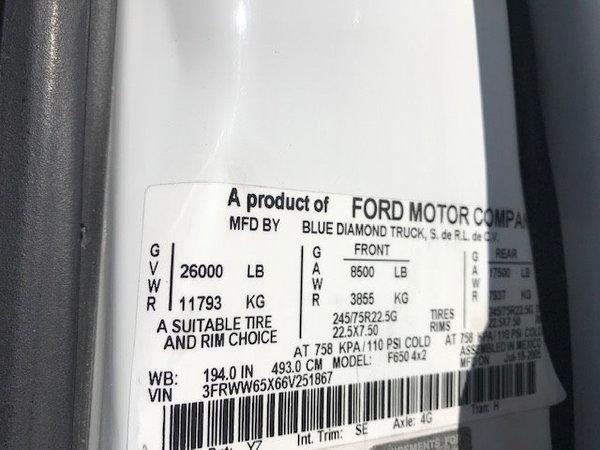 2006 Ford F650 6 Door Custom Conversion Full Air Ride Suspen  for Sale $99,995
