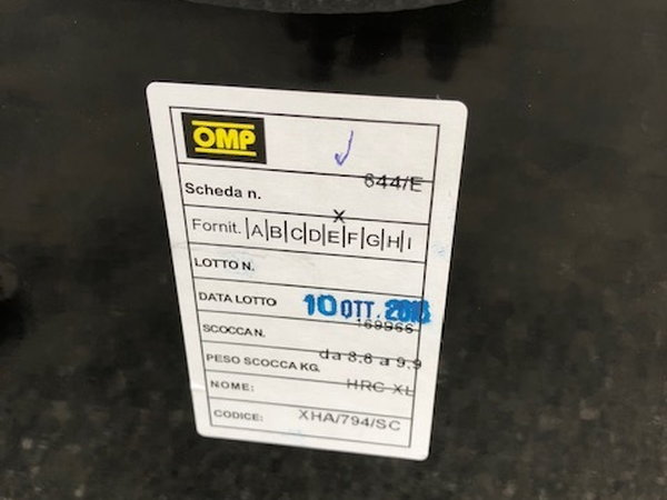 OMP HRC Fiberglass Air XL Race Seat  for Sale $800