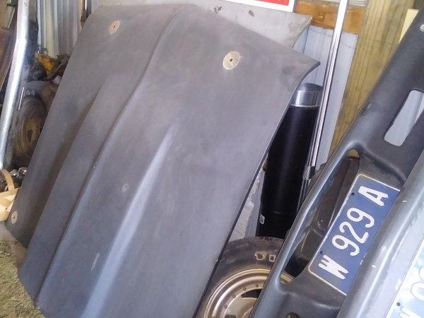 Fiberglass hood, trunk lid and bumper  for Sale $400