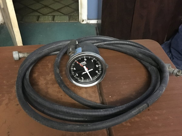 Jones mechanical tachometer