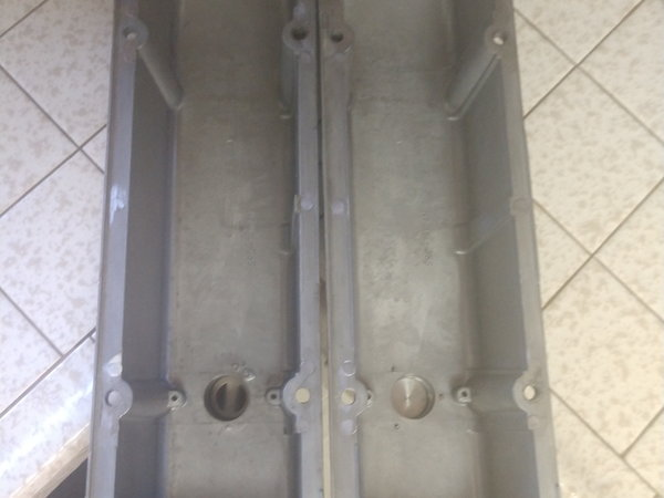 Early Chevy Tall Valve Covers w/ vent fittings  for Sale $100