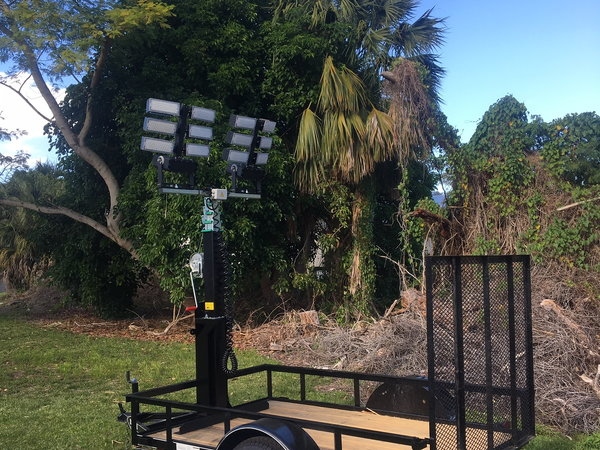 Trailer Light Tower Mast and LED Lights  for Sale $3,600