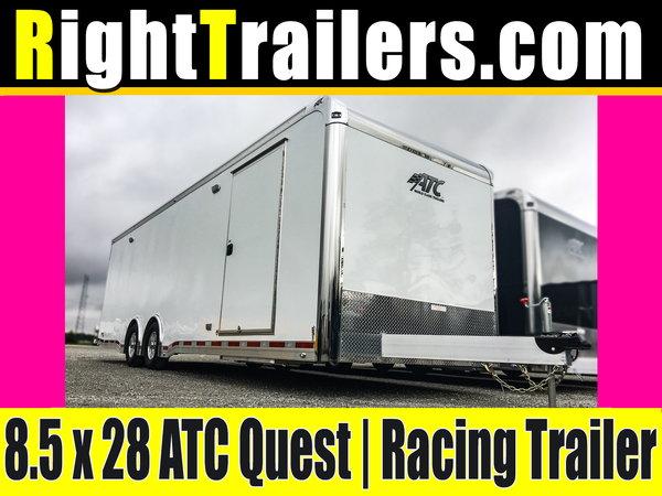 8.5x28 ATC Quest   Race Car Trailer - AVAILABLE NOW