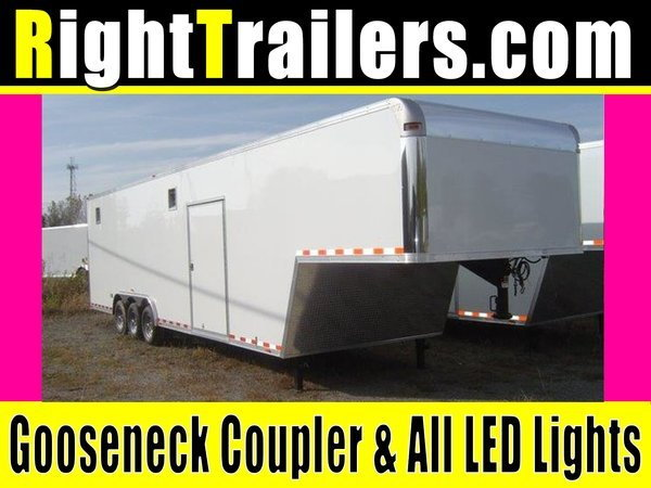 "IN STOCK - Vintage 40' Race Car Trailer - 7'6"" Interior"