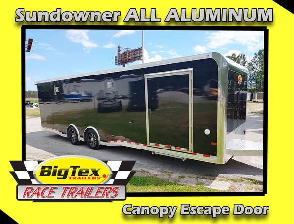 2020 ALL ALUMINUM 8.5x28 Sundowner Race Trailer Loaded with