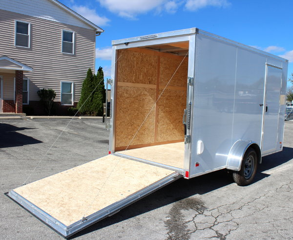 "6'x12' All Alum, Screwless, 6"" Ext, Ramp Cargo Trailer"