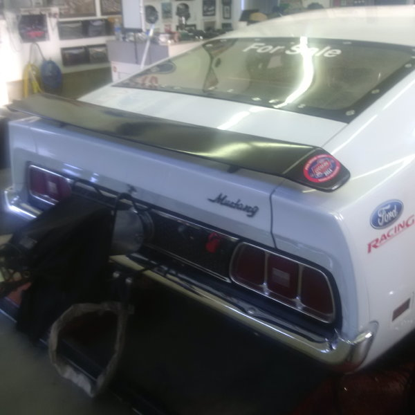 73 Mustang 7.50 cert drag car metal fenders and quarters.  for Sale $26,000