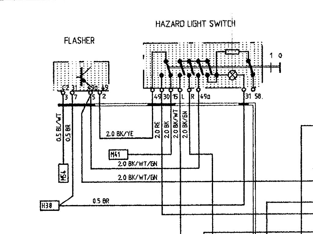 Hazard  Emergency Flasher Switch