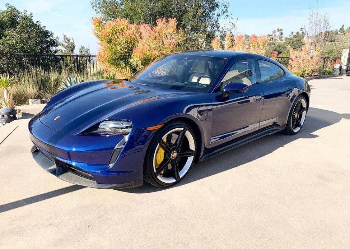 2020 Porsche Taycan Turbo S Gentian Blue Rennlist Porsche Discussion Forums
