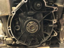 Engine after flywheel removal