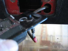 Hatch latch w/plunger switch for interior lights.