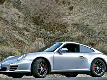 The unmistakable 911 silhouette.