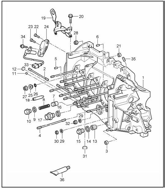 porsche 997 motor diagram