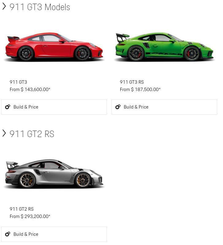 Gt3rs 991 2 Configurator Porsche Usa Is Live Rennlist Porsche
