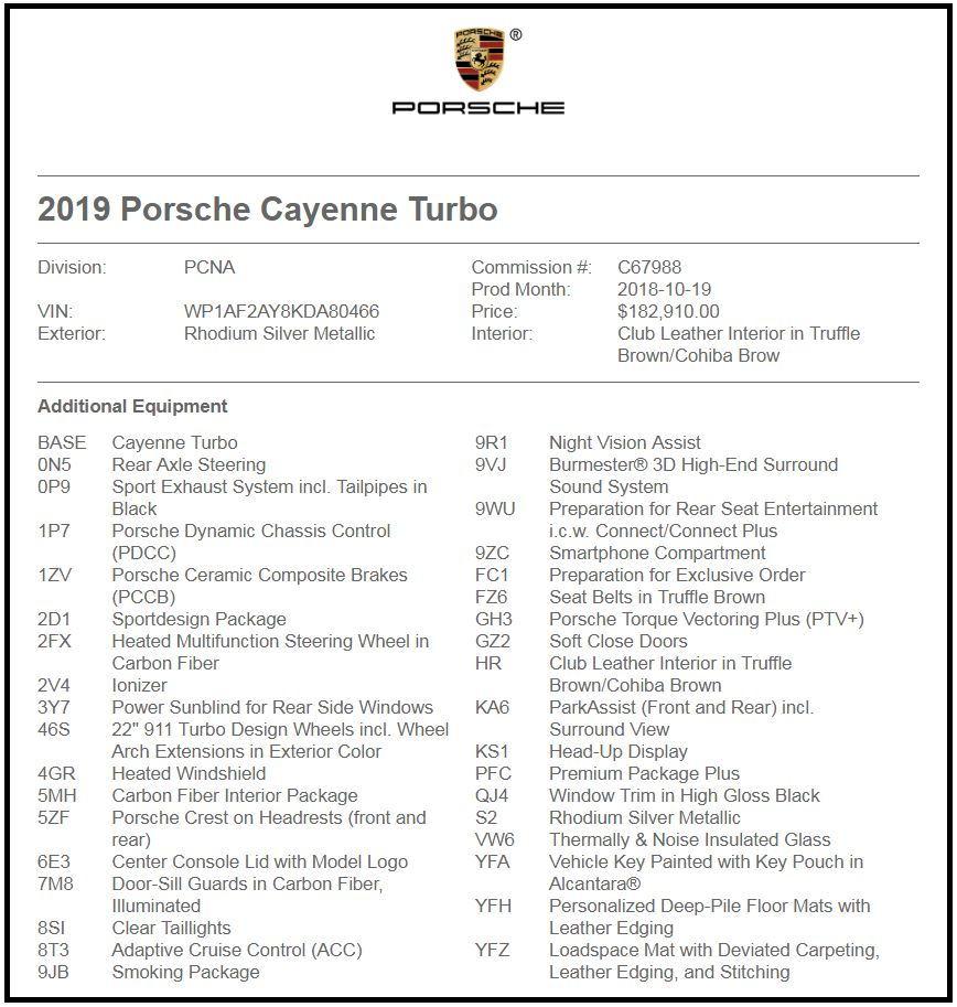 New Cayenne Turbo - Nose bleed spec    - Rennlist - Porsche