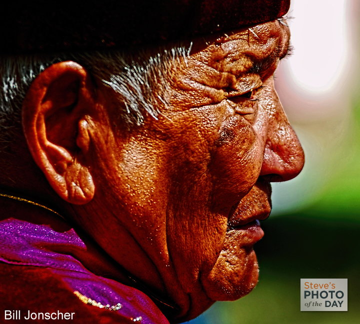 Portrait of Mongolian man