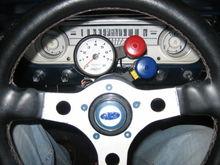 at the wheel
