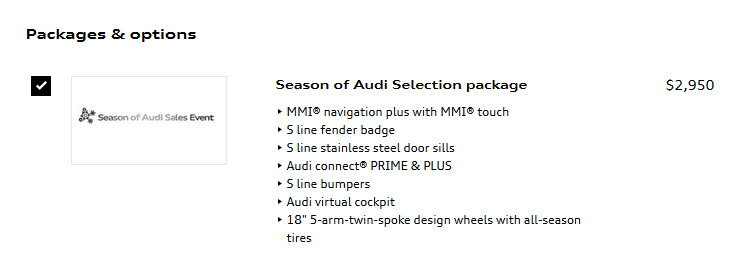 Audi Financial Services Phone Number >> Season Of Audi Audi Financial Services Audiworld Forums