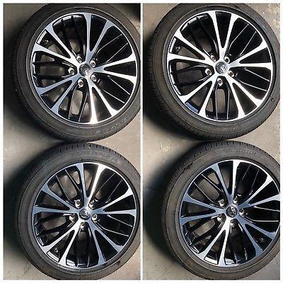 2018 18 Toyota Camry Black Wheels Rims Oem Factory Bridgestone Tires On Ebay
