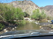 Azusa water crossing.