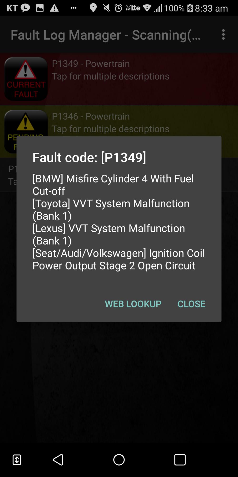 Toyota Fault Code 33