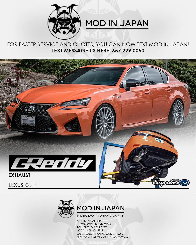 Lexus Gs For Sale: Sale GReddy Supreme SP Exhaust For LEXUS GS F