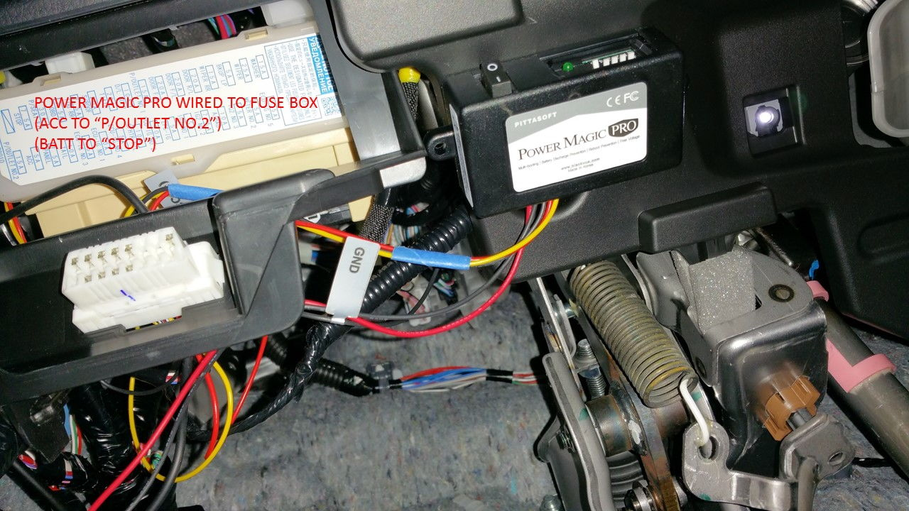 rear dashcam diy club lexus forums as per request a photo of the fuse box connections is shown below the ground was wrapped around a nearby screw that holds the plastic footwell light
