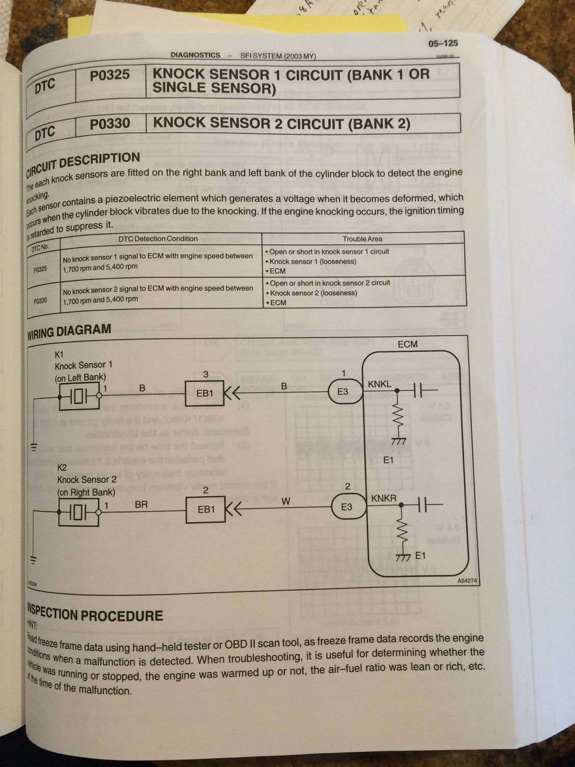P0330 And P0325 Knock Sensor - Clublexus
