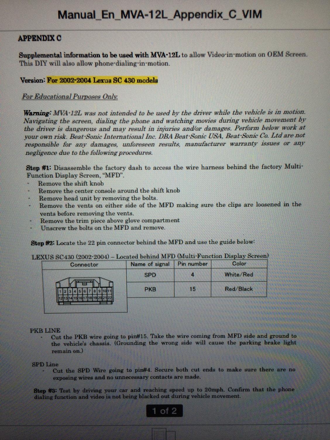 TV Fuse- Any Ideas? - ClubLexus - Lexus Forum Discussion