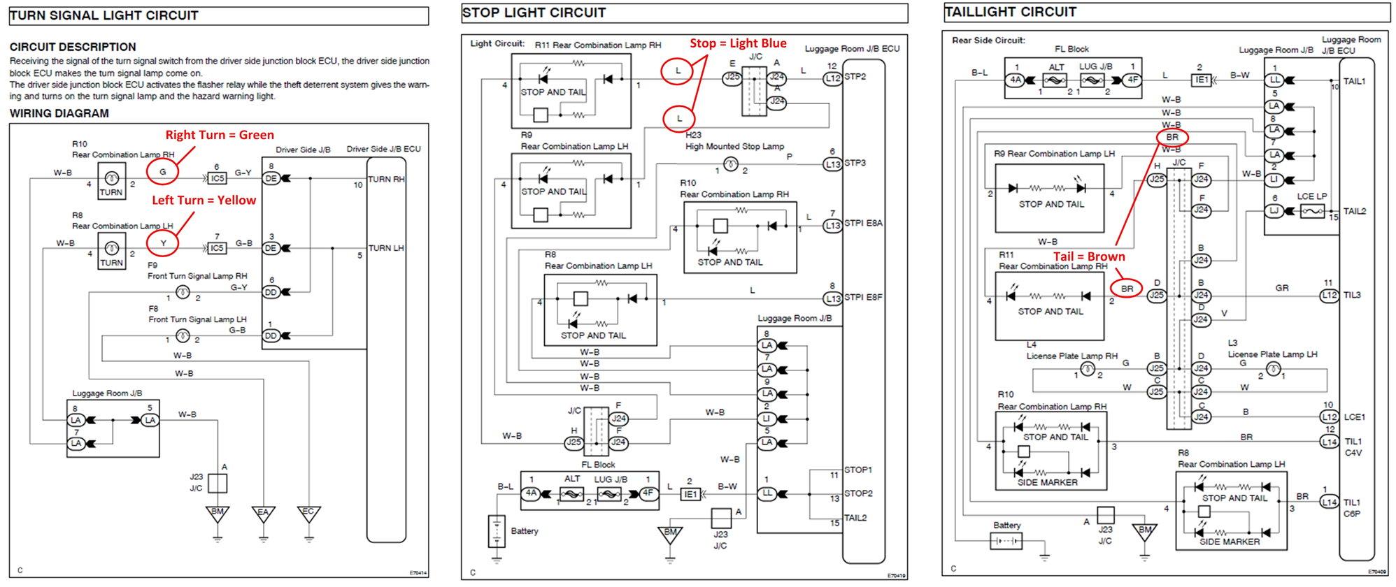 Trailer Tail Light Wiring Diagram Also Tail Light Wiring Diagram