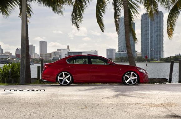 GS F Sport 2013 on Concavo Wheels 20x9 and 20x10.5 CW-5
