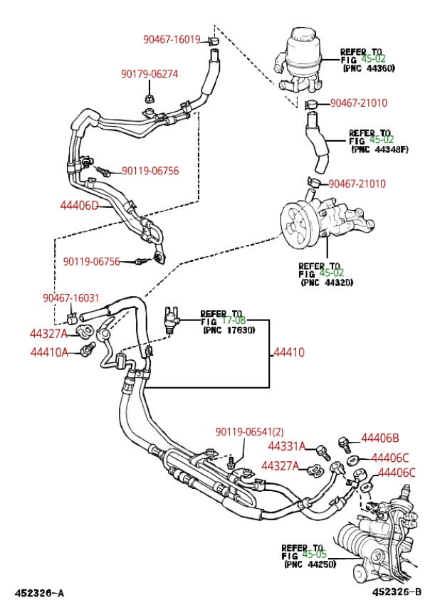 power steering pump  rack and pinion replacement where do