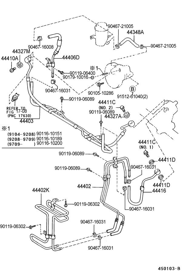 98 Sc400 Power Steering Pressure Hose Parts Help