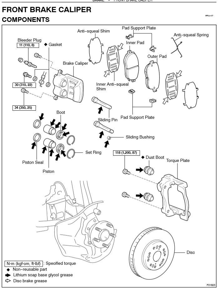 Front Brake Caliper Boltguide Pin Wbushing