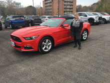 Happy day, picking up the new Mustang
