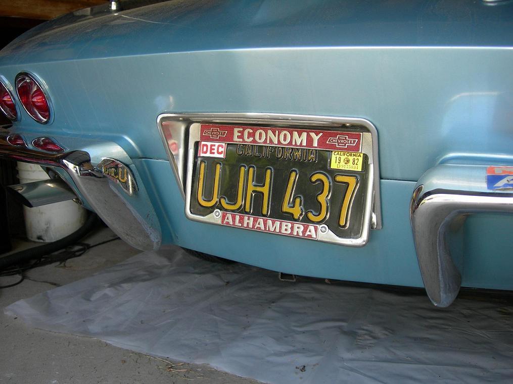 California black & yellow license plate paint - CorvetteForum