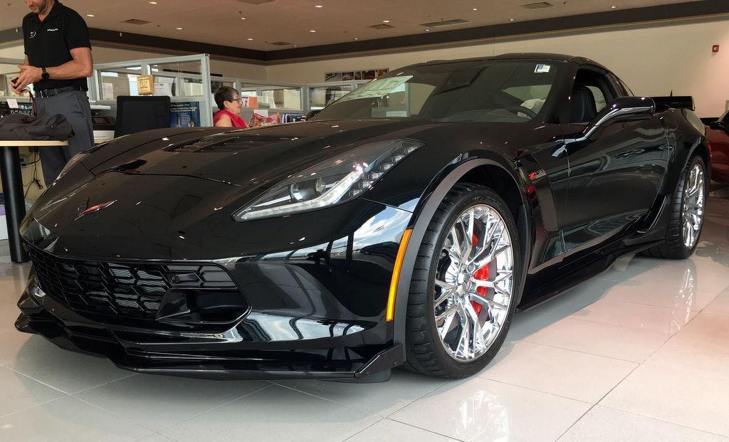2018 Corvette Z06 Black On Black Auto 2lz Chrome
