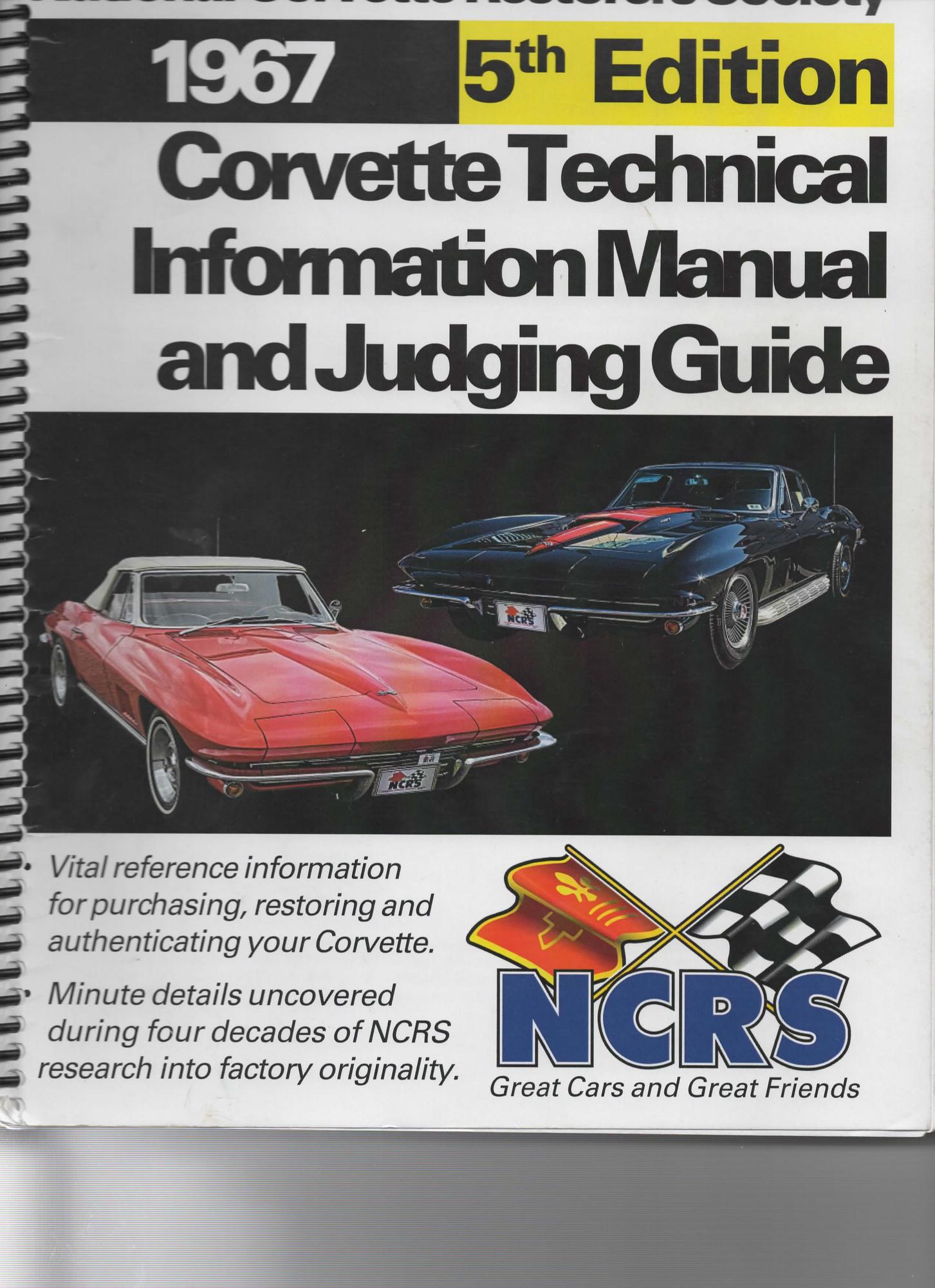 corvette judging manuals
