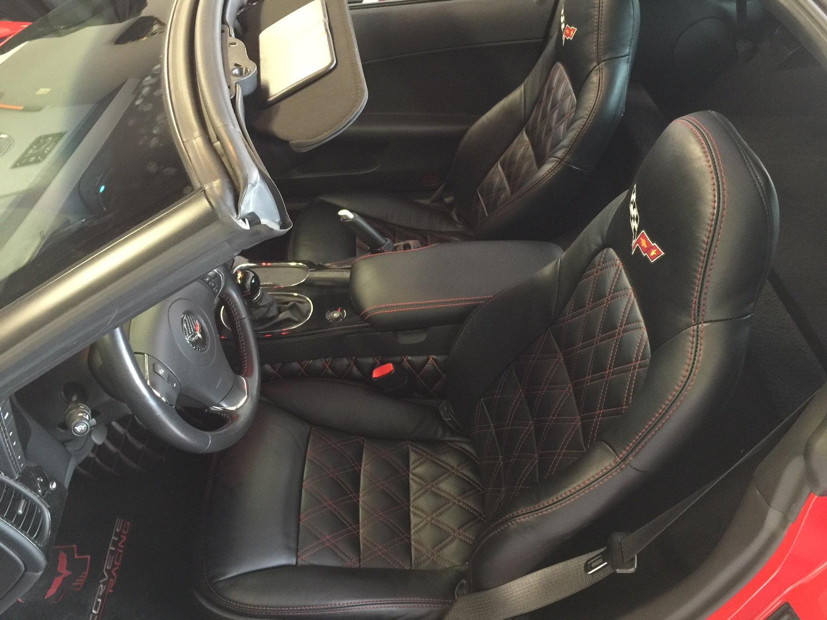 Seat Covers With Double Diamond Stitching Corvetteforum