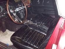Original Black Leather interior. AM/FM radio. 4 speed. Rosewood wheel.