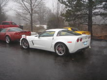 Mission Valley Corvettes & Cobras cruise in the rain and snow. You never know what you'll run into in the San Diego County mountains during the winter.